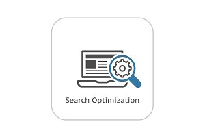 Search Optimization Icon. Flat Design.