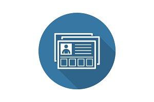 Business Profile Icon.  Flat Design.