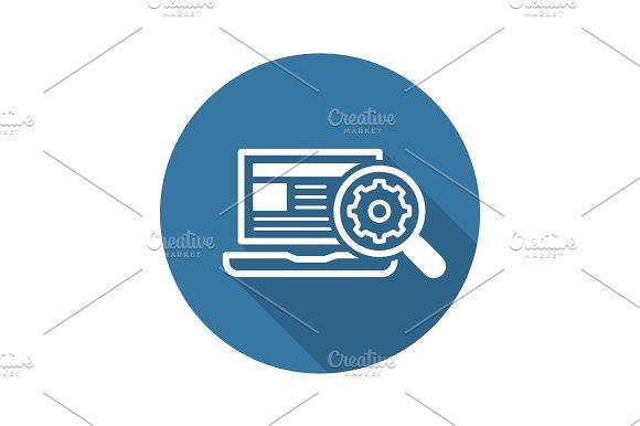 Search Optimization Icon Flat Design