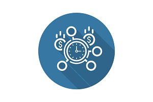 Time Management Icon. Flat Design.