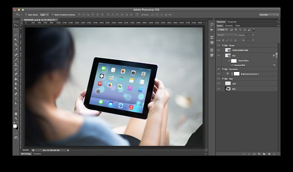 iPad Template, Concrete Jungle2 (L) in Templates - product preview 1
