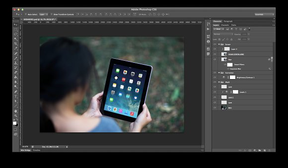 iPad Template, Grassy Patch (L) in Templates - product preview 1