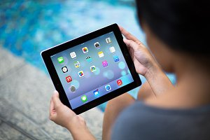 iPad Template, Pool Side (L)
