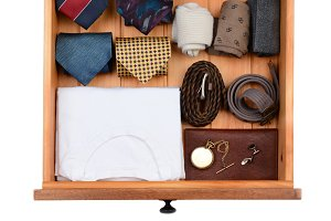 Drawer With Clothes and Accessories