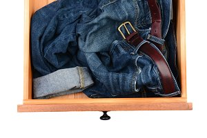 Blue Jeans in Drawer