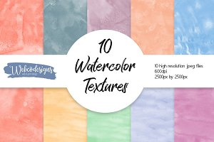 10 Watercolor Backgrounds 600DPI