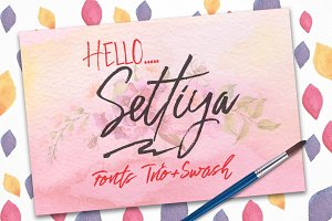 Settiya Fonts Trio+swash