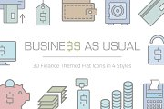 Business As Usual Financial Icon Set