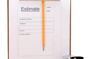 Contractors Estimate Form Vertical