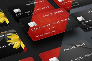 7 Credit Card Mock-Ups / Bank