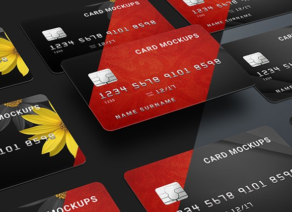 Download 7 Credit Card Mock-Ups / Bank
