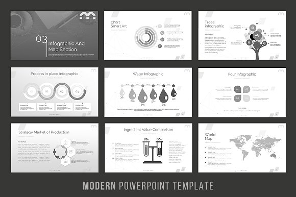 modern powerpoint template presentation templates creative market