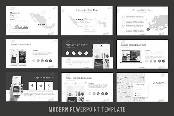 Modern powerpoint template presentation templates creative market toneelgroepblik Choice Image