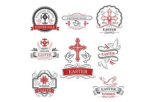 Easter sale and premium quality badge set