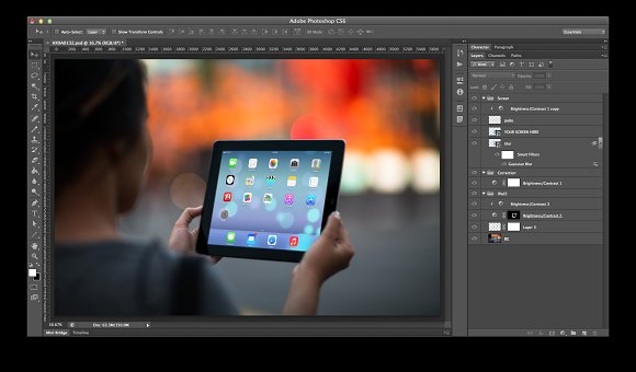 iPad Template, Fire Lights (S) in Templates - product preview 1