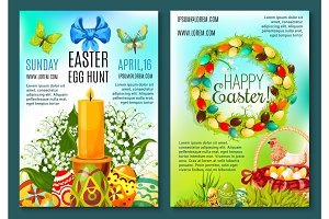 Easter Egg Hunt invitation flyer template