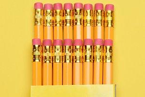 New Pencils in Box