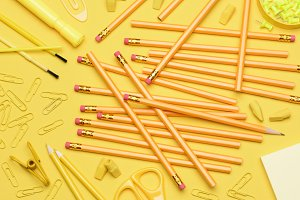 Yellow School Supplies