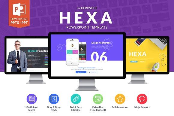 Hexa Business Powerpoint Template