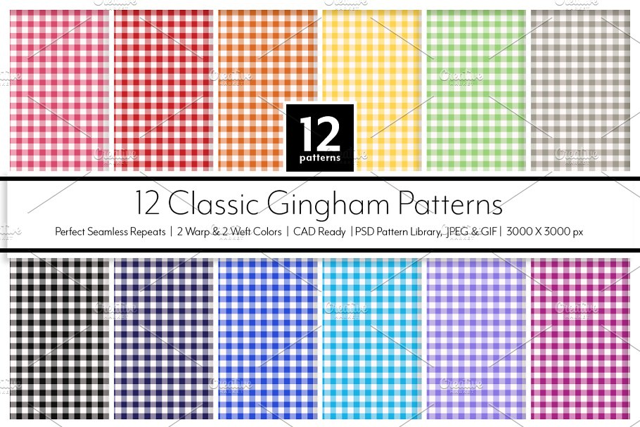 12 Classic Gingham Patterns