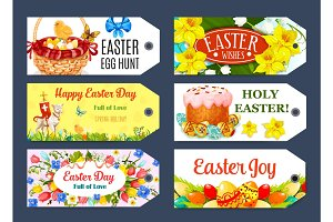 Easter Egg Hunt gift tag and label set design