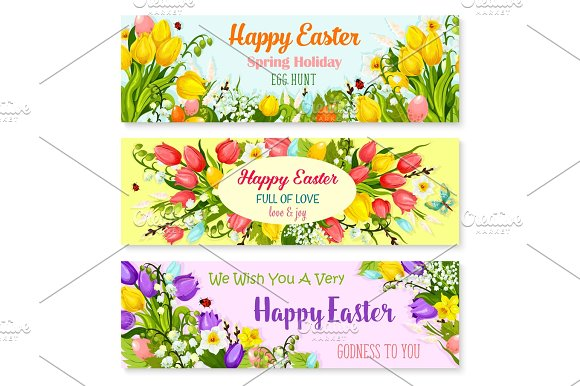 Easter spring holiday greeting vector banners set graphics easter spring holiday greeting vector banners set graphics m4hsunfo