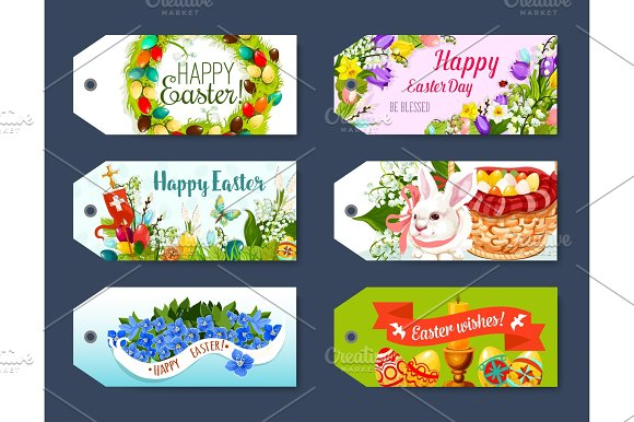 Easter gift tag and greeting label set design graphics easter gift tag and greeting label set design graphics negle Choice Image