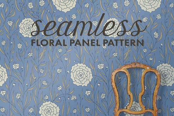 Seamless Floral Panel Pattern