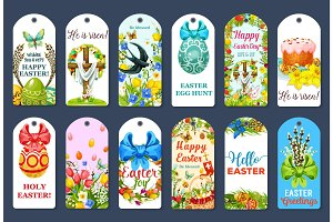 Easter Egg Hunt tag and label set design