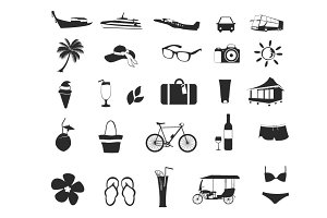 Set of holiday icons