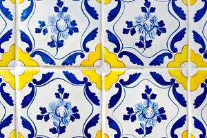 Portuguese tiles azulejos.