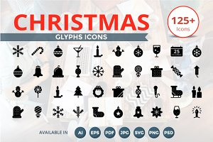 Christmas Glyphs Icons