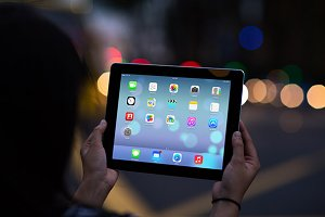 iPad Template, City Lights (L)
