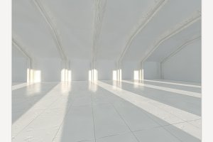 White architecture background.