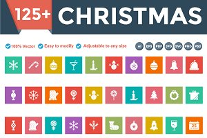 Christmas Square Flat icons