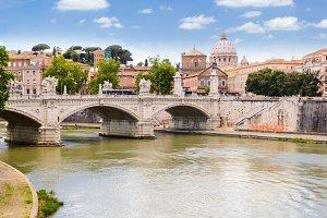 Ponte Principe Amedeo and St. Peter's basilica
