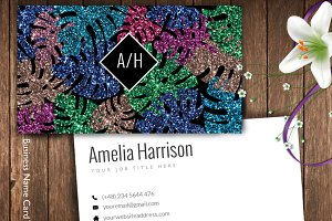 Colorful Glitter Name Card-ID29