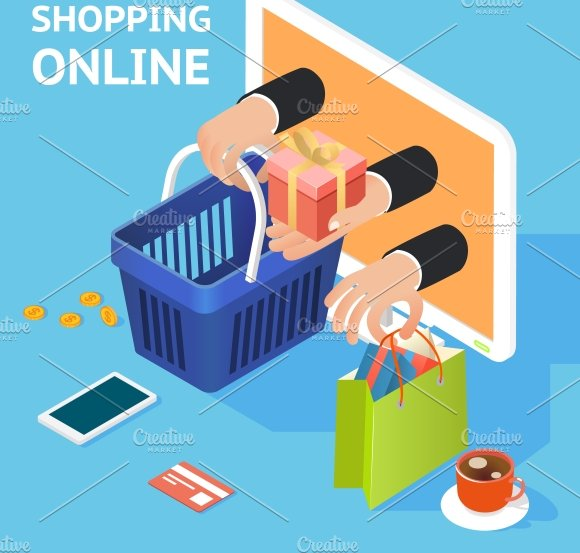 E-commerce / online shopping ~ Illustrations ~ Creative Market