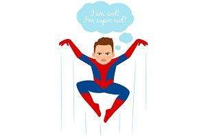 Superhero spider boy illustration