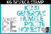 KG Tribeca Stamp Font