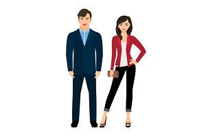 Office style fashion couple