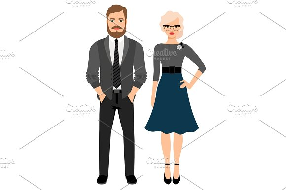 Business style fashion couple