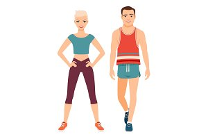 Fitness sport style couple