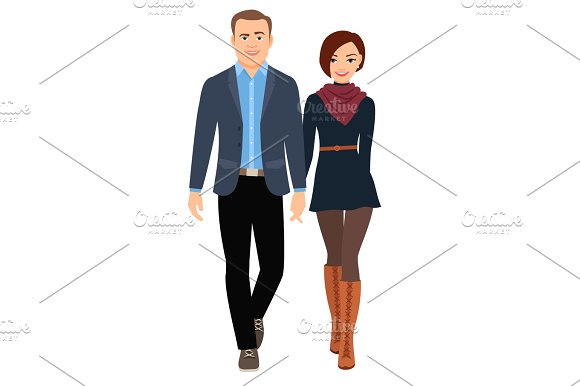 Business casual fashion couple