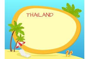 Thailand Touristic Vector Concept with Copyspace