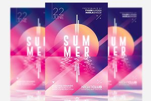 Minimal Summer - Flyer Template