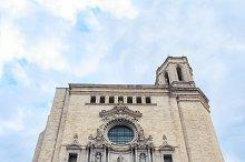 Catedral de Santa Maria Gerona, front view