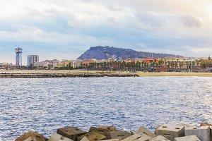 view of Barceloneta beach