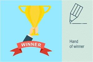 Hand of winner