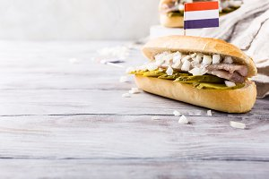 Sandwich with herring
